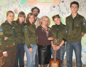 Bor CERC scouts in chapel2008
